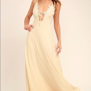 Lulu's cream colored maxi dress!